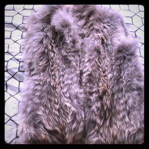 Real coyote fur vest